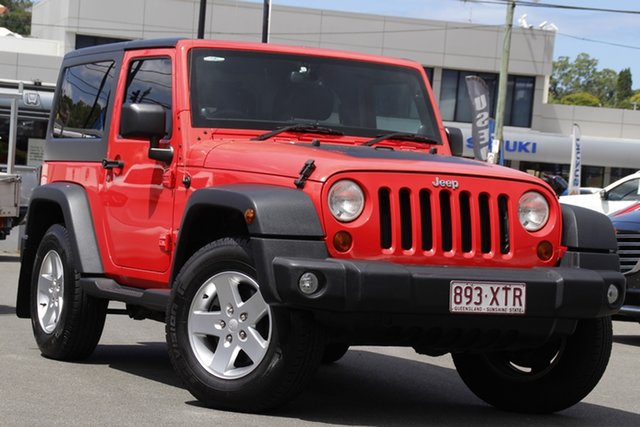 Used Jeep Wrangler JK MY2013 Sport Mount Gravatt, 2013 Jeep Wrangler JK MY2013 Sport Red 6 Speed Manual Softtop