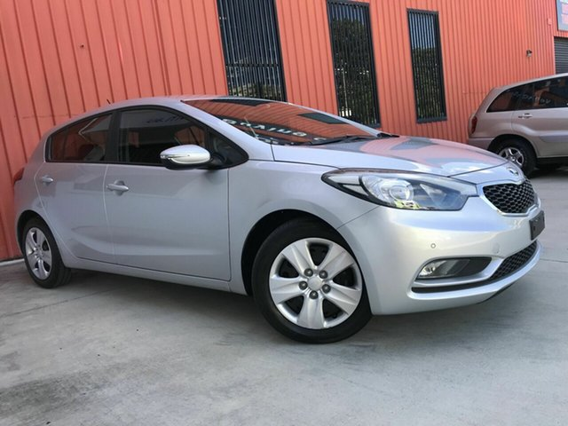 Used Kia Cerato YD MY15 S Molendinar, 2015 Kia Cerato YD MY15 S Silver 6 Speed Sports Automatic Hatchback