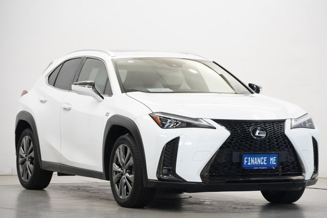 Used Lexus UX MZAA10R UX200 2WD F Sport Victoria Park, 2018 Lexus UX MZAA10R UX200 2WD F Sport White 1 Speed Constant Variable Hatchback