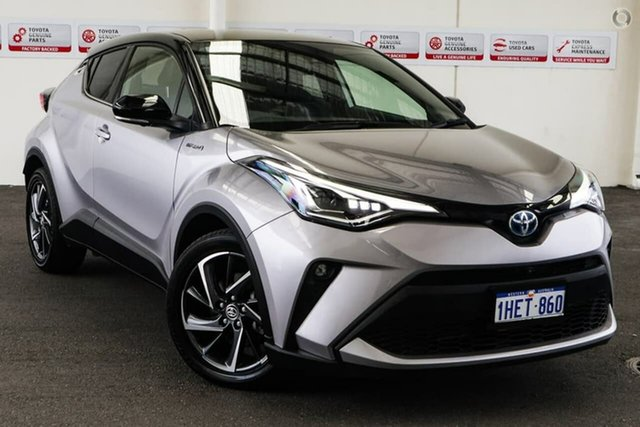 Pre-Owned Toyota C-HR ZYX10R Koba E-CVT 2WD Rockingham, 2019 Toyota C-HR ZYX10R Koba E-CVT 2WD Shadow Platinum & Black Roof 7 Speed Constant Variable Wagon