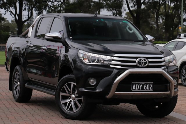Pre-Owned Toyota Hilux GUN126R SR5 Double Cab Warwick Farm, 2015 Toyota Hilux GUN126R SR5 Double Cab Black 6 Speed Sports Automatic Utility