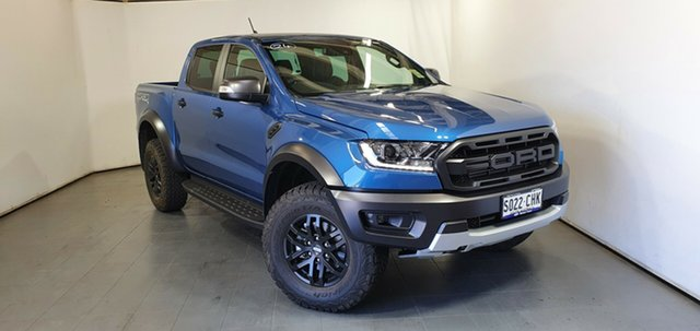 Demo Ford Ranger PX MkIII 2021.25MY Raptor Elizabeth, 2020 Ford Ranger PX MkIII 2021.25MY Raptor Performance Blue 10 Speed Sports Automatic