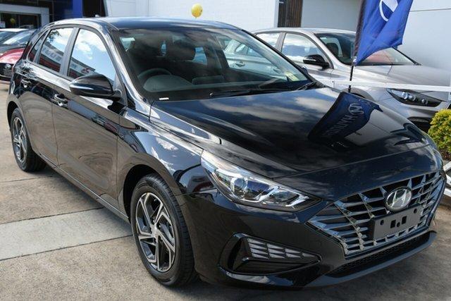 New Hyundai i30 PD.V4 MY21 Beaudesert, 2020 Hyundai i30 PD.V4 MY21 Phantom Black 6 Speed Manual Hatchback