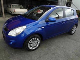 2011 Hyundai i20 PB MY11 Active Blue 5 Speed Manual Hatchback
