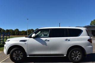 2020 Nissan Patrol Y62 Series 5 MY20 TI Moonstone White 7 Speed Sports Automatic Wagon