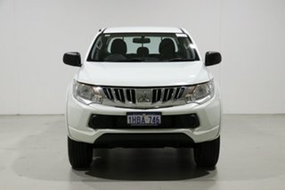 2015 Mitsubishi Triton MQ MY16 GLX (4x4) White 6 Speed Manual Dual Cab Utility.