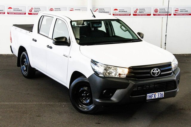 Pre-Owned Toyota Hilux TGN121R Workmate Rockingham, 2016 Toyota Hilux TGN121R Workmate Glacier White 6 Speed Automatic Dual Cab Utility