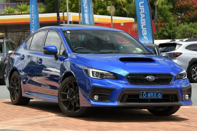 Demo Subaru WRX V1 MY21 Premium AWD Newstead, 2020 Subaru WRX V1 MY21 Premium AWD WR Blue Mica 6 Speed Manual Sedan