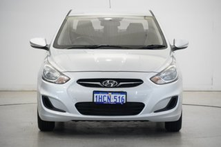2014 Hyundai Accent RB2 Active Silver 4 Speed Sports Automatic Sedan
