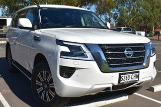 2020 Nissan Patrol Y62 Series 5 MY20 TI Moonstone White 7 Speed Sports Automatic Wagon.
