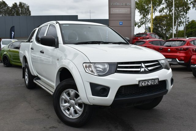 Used Mitsubishi Triton MN MY15 GLX Double Cab Tuggerah, 2015 Mitsubishi Triton MN MY15 GLX Double Cab White 5 Speed Manual Utility