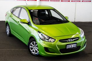 2013 Hyundai Accent RB Active Green 4 Speed Automatic Sedan.
