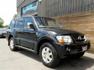 2005 Mitsubishi Pajero NP MY06 Exceed Black 5 Speed Sports Automatic Wagon.