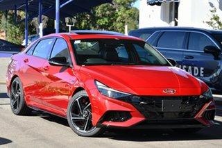 2020 Hyundai i30 CN7.V1 MY21 N Line Premium Fiery Red 7 Speed Auto Dual Clutch Sedan.