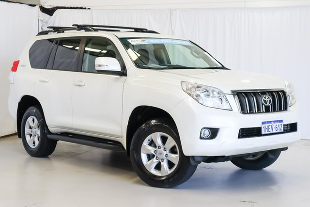 Used Toyota Landcruiser Prado KDJ150R Altitude Wangara, 2013 Toyota Landcruiser Prado KDJ150R Altitude White 5 Speed Sports Automatic Wagon