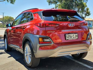 2017 Hyundai Kona OS MY18 Elite D-CT AWD Red 7 Speed Sports Automatic Dual Clutch Wagon