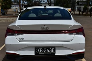 2020 Hyundai i30 CN7.V1 MY21 Elite Polar White 6 Speed Sports Automatic Sedan