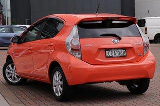 2013 Toyota Prius c NHP10R i-Tech E-CVT Sunrise 1 Speed Constant Variable Hatchback Hybrid.