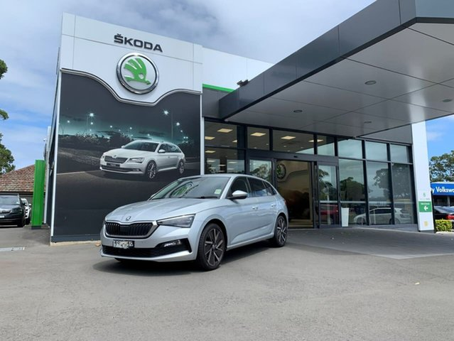 Demo Skoda Scala NW MY20.5 110TSI DSG Launch Edition Botany, 2020 Skoda Scala NW MY20.5 110TSI DSG Launch Edition Silver 7 Speed Sports Automatic Dual Clutch