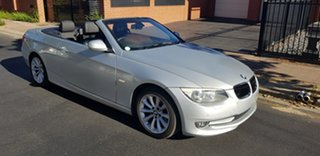 2010 BMW 320d E93 MY10 Silver 6 Speed Auto Steptronic Convertible.