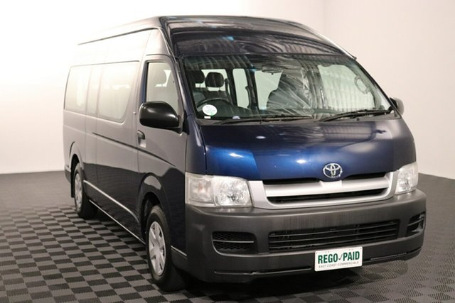 Used Toyota HiAce TRH223R Commuter High Roof Super LWB Acacia Ridge, 2005 Toyota HiAce TRH223R Commuter High Roof Super LWB Blue 5 speed Manual Bus