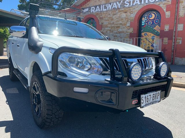 Used Mitsubishi Triton MQ MY16 GLS Double Cab Cheltenham, 2015 Mitsubishi Triton MQ MY16 GLS Double Cab White 6 Speed Manual Utility