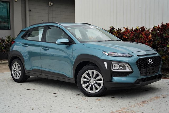 Used Hyundai Kona OS.2 MY19 Go 2WD Cairns, 2019 Hyundai Kona OS.2 MY19 Go 2WD Blue 6 Speed Sports Automatic Wagon