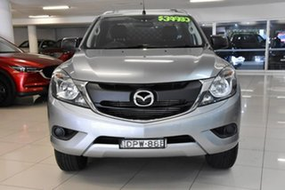 2017 Mazda BT-50 UR0YG1 XT Freestyle 4x2 Hi-Rider Silver 6 Speed Sports Automatic Cab Chassis