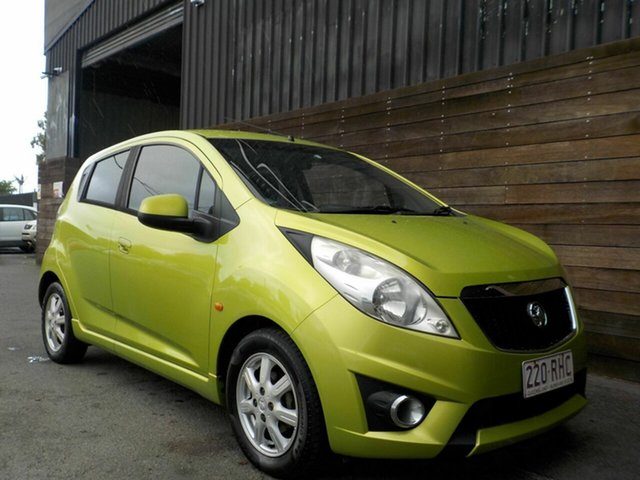 Used Holden Barina Spark MJ MY11 CD Labrador, 2010 Holden Barina Spark MJ MY11 CD Green 5 Speed Manual Hatchback