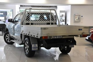 2017 Mazda BT-50 UR0YG1 XT Freestyle 4x2 Hi-Rider Silver 6 Speed Sports Automatic Cab Chassis.