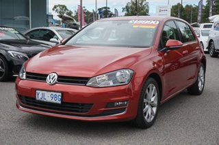 2012 Volkswagen Golf VII 103TSI DSG Highline Sunset Red 7 Speed Sports Automatic Dual Clutch