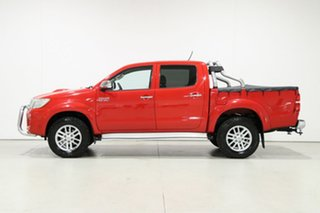 2011 Toyota Hilux KUN26R MY12 SR5 (4x4) Red 4 Speed Automatic Dual Cab Pick-up