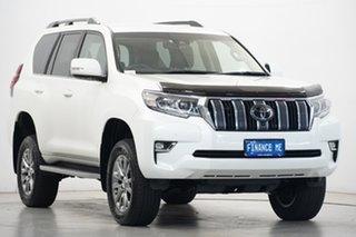 2019 Toyota Landcruiser Prado GDJ150R VX Pearl White 6 Speed Sports Automatic Wagon
