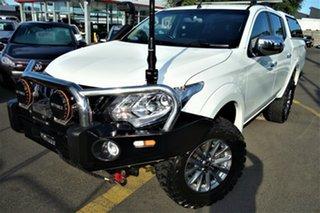 2017 Mitsubishi Triton MQ MY17 GLS Double Cab White 6 Speed Manual Utility.