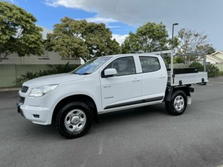 2014 Holden Colorado RG LS White 6 Speed Manual Dual Cab.