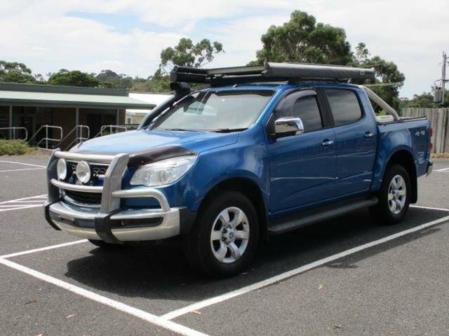 Used Holden Colorado Timboon, 2015 Holden Colorado RG TURBO LTZ 4x4 Blue Automatic CREWCAB UTILITY