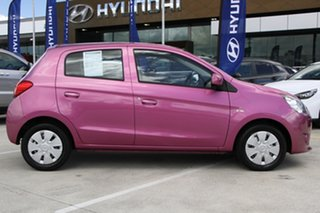 2013 Mitsubishi Mirage LA MY14 ES Pink 5 Speed Manual Hatchback