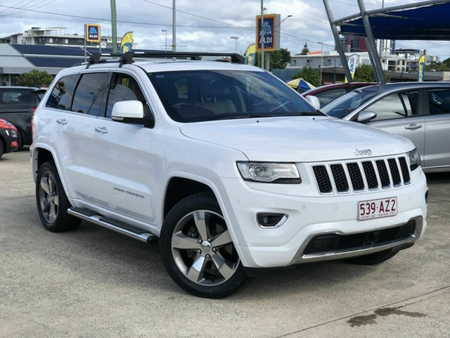 Used Jeep Grand Cherokee WK MY15 Overland Chermside, 2015 Jeep Grand Cherokee WK MY15 Overland White 8 Speed Sports Automatic Wagon