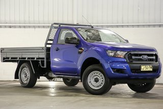 2016 Ford Ranger PX MkII XL Hi-Rider Blue 6 Speed Sports Automatic Cab Chassis.