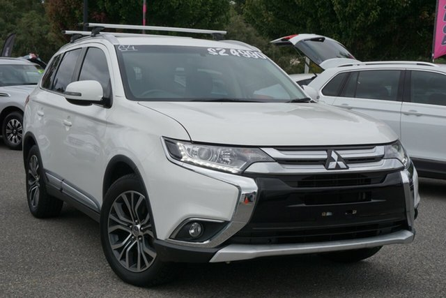 Used Mitsubishi Outlander ZK MY16 LS 4WD Phillip, 2015 Mitsubishi Outlander ZK MY16 LS 4WD White 6 Speed Constant Variable Wagon