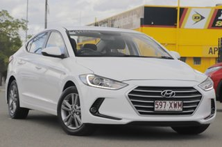 2018 Hyundai Elantra AD MY18 Active Polar White 6 Speed Sports Automatic Sedan.