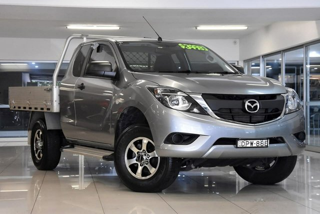 Used Mazda BT-50 UR0YG1 XT Freestyle 4x2 Hi-Rider Waitara, 2017 Mazda BT-50 UR0YG1 XT Freestyle 4x2 Hi-Rider Silver 6 Speed Sports Automatic Cab Chassis