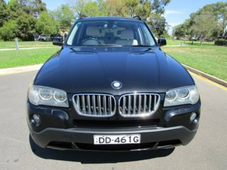 2009 BMW X3 E83 MY09 xDrive 30d Lifestyle Black 6 Speed Auto Steptronic Wagon.