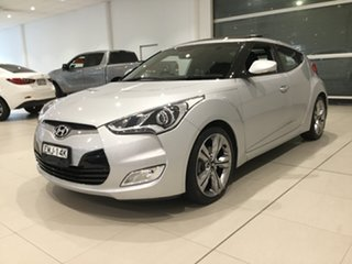 2014 Hyundai Veloster FS3 + Coupe D-CT Silver 6 Speed Sports Automatic Dual Clutch Hatchback