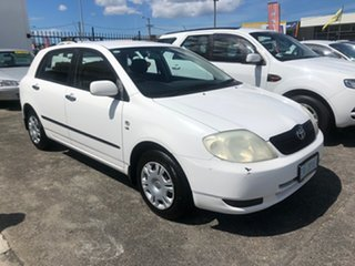 2003 Toyota Corolla ZZE122R Ascent White 5 Speed Manual Hatchback.