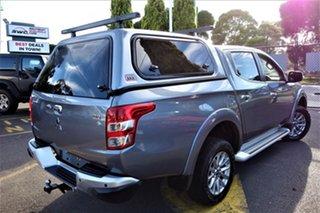 2016 Mitsubishi Triton MQ MY17 GLS Double Cab Silver 5 Speed Sports Automatic Utility.