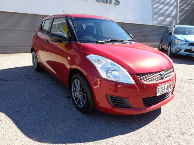 Used Suzuki Swift FZ GA Elizabeth, 2011 Suzuki Swift FZ GA Red 5 Speed Manual Hatchback