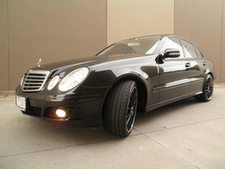2006 Mercedes-Benz E-Class W211 MY07 E200 Kompressor Elegance Obsidian Black Metallic 5 Speed.