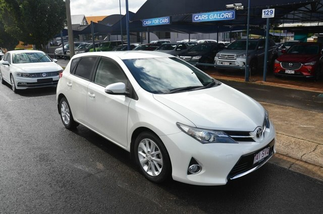 Used Toyota Corolla ZRE182R Ascent Sport Toowoomba, 2012 Toyota Corolla ZRE182R Ascent Sport White 7 Speed CVT Auto Sequential Hatchback