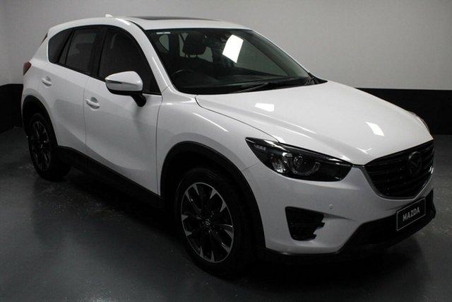 Used Mazda CX-5 KE1022 Akera SKYACTIV-Drive i-ACTIV AWD Hamilton, 2016 Mazda CX-5 KE1022 Akera SKYACTIV-Drive i-ACTIV AWD White 6 Speed Sports Automatic Wagon